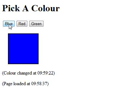 Colour Selector With Ajax
