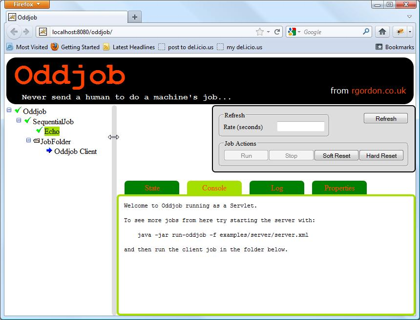 Oddjob JSF/Ajax Browser View