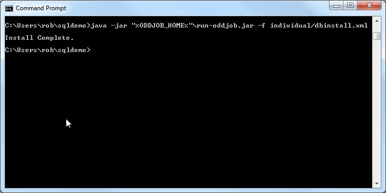 SQL Install From the Command Line